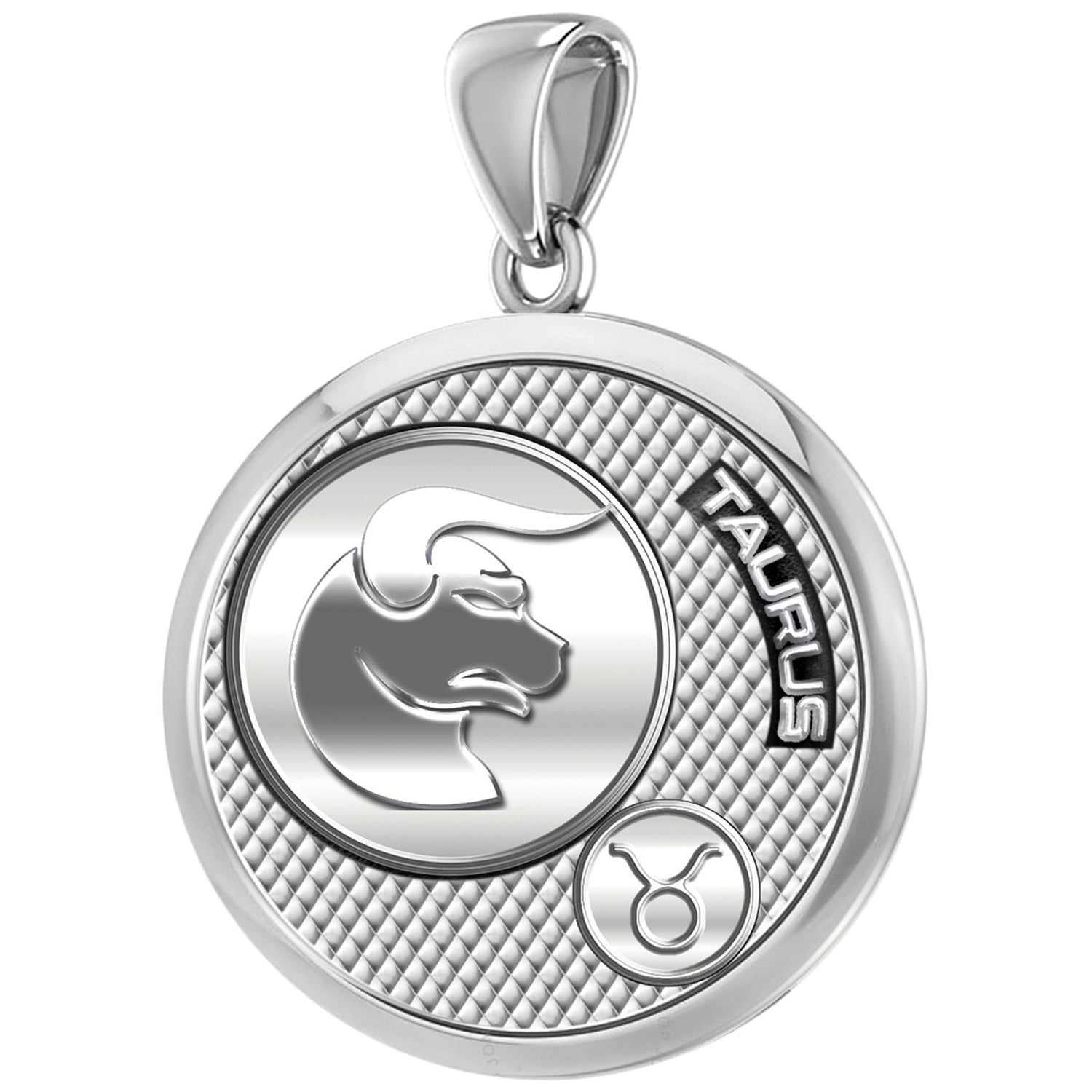Taurus Necklace For Men In 925 Silver - Pendant Only