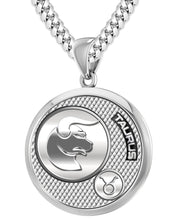 Taurus Necklace For Men In 925 Silver - 5.6mm Cuban Chain