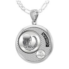Virgo Necklace In Sterling Silver - 1.8mm Figaro Chain
