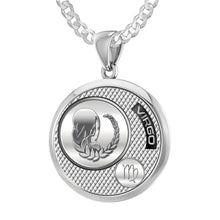 Virgo Necklace In Sterling Silver - 2.2mm Curb Chain