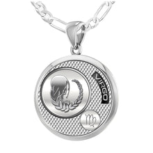 Virgo Necklace In Sterling Silver - 2.3mm Figaro Chain