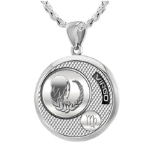 Virgo Necklace In Sterling Silver - 2.3mm Rope Chain