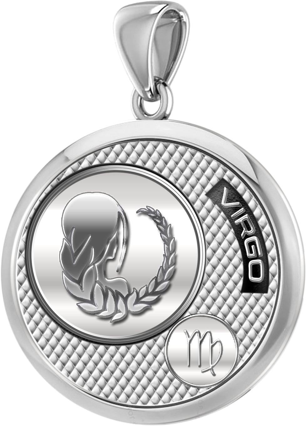 Virgo Necklace In Sterling Silver - Pendant Only