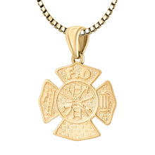Firefighter Necklace of 26mm in 14k Gold - 2.2mm Box Chain