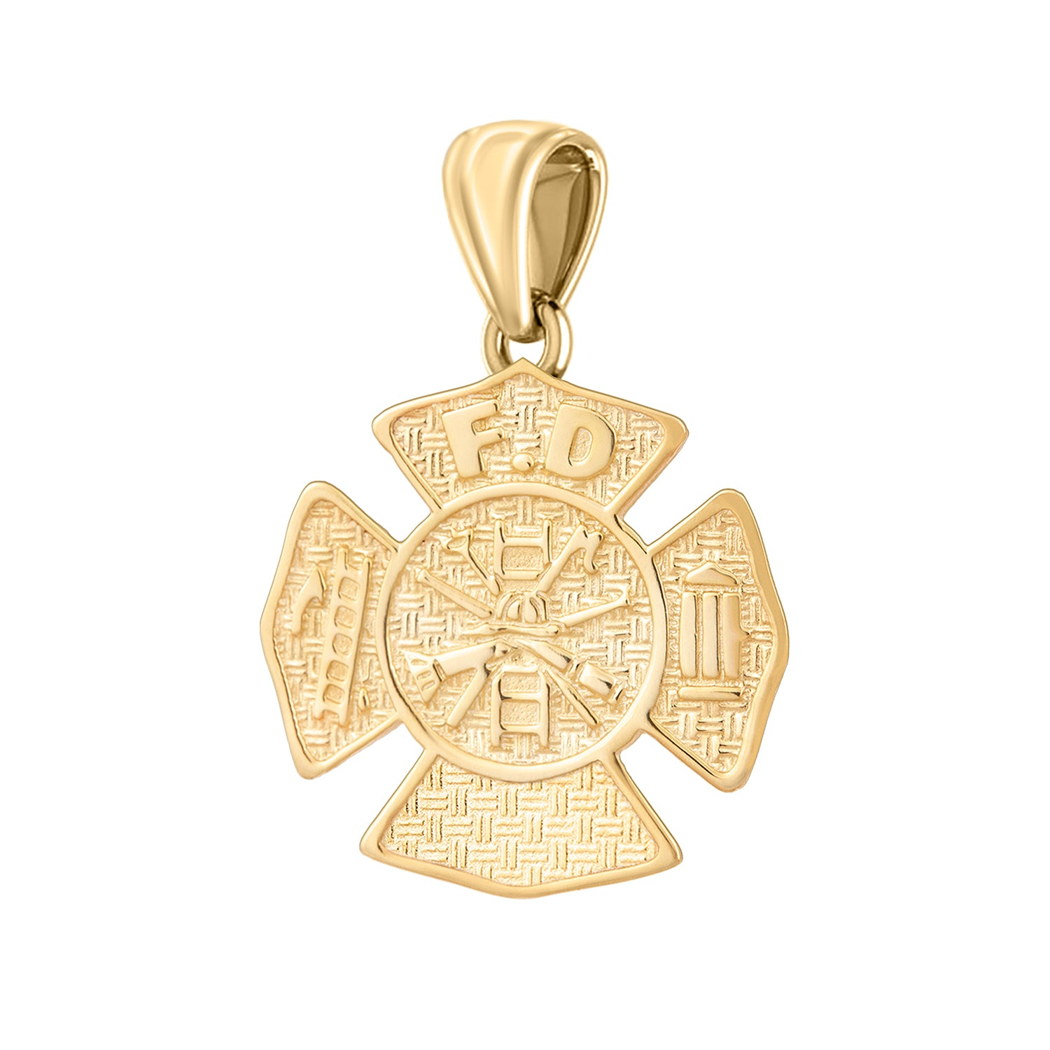Firefighter Necklace of 26mm in 14k Gold - Pendant Only