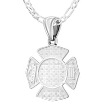 Firefighter Pendant of 26mm Length - 1.5mm Figaro Chain