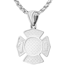 Firefighter Pendant of 26mm Length - 1.9mm Box Chain
