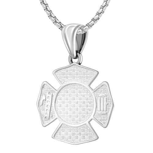 Firefighter Pendant of 26mm Length - 1mm Box Chain