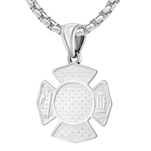 Firefighter Pendant of 26mm Length - 2.6mm Box Chain