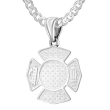 Firefighter Pendant of 26mm Length - 2.8mm Curb Chain