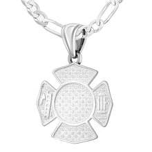 Firefighter Pendant of 26mm Length - 3mm Figaro Chain