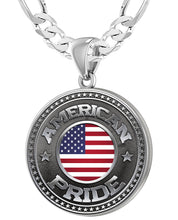 American Flag Medal - 925 Silver Medal Pendants With Chain