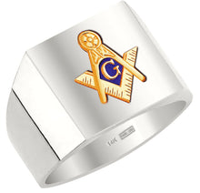 Masonic Ring Blue Lodge Solid Back In 10k 14k Gold
