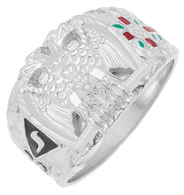 32nd Degree Mason ring with double-headed eagle symbol - Silver