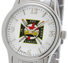 Bulova Watch With Knights Templar Dial - Front View