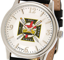 Bulova Watch With Silver Knights Templar For Men - Dial