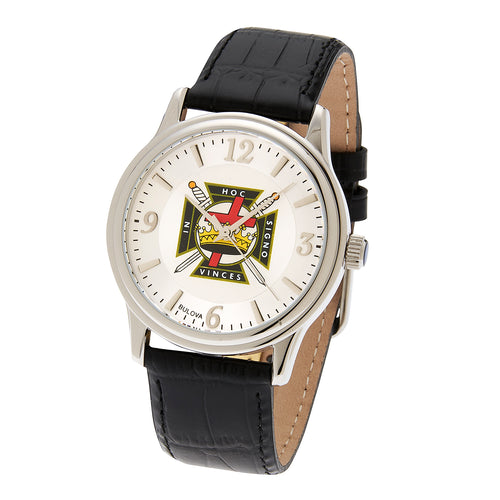 Bulova Watch - Knights Watch With Silver Templar For Men