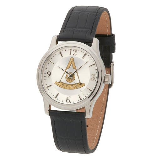 Bulova Watch - Masonic Watch With Master Mason Dial
