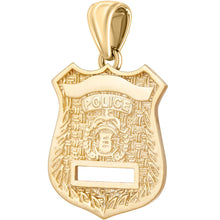 Police Badge Necklace In Gold of 26mm - Pendant Only