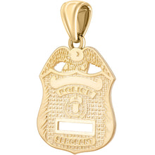 Police Badge Necklace In Gold For Men - Pendant Only
