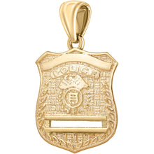 Gold Police Badge Necklace For Men - Pendant Only