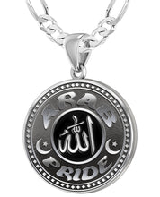 Arab Necklace For Men In Sterling Silver - 4mm Figaro Chain