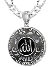 Arab Necklace For Men In Sterling Silver - 6mm Figaro Chain