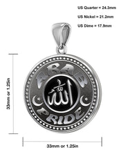 Arab Necklace For Men In Sterling Silver - Size Details