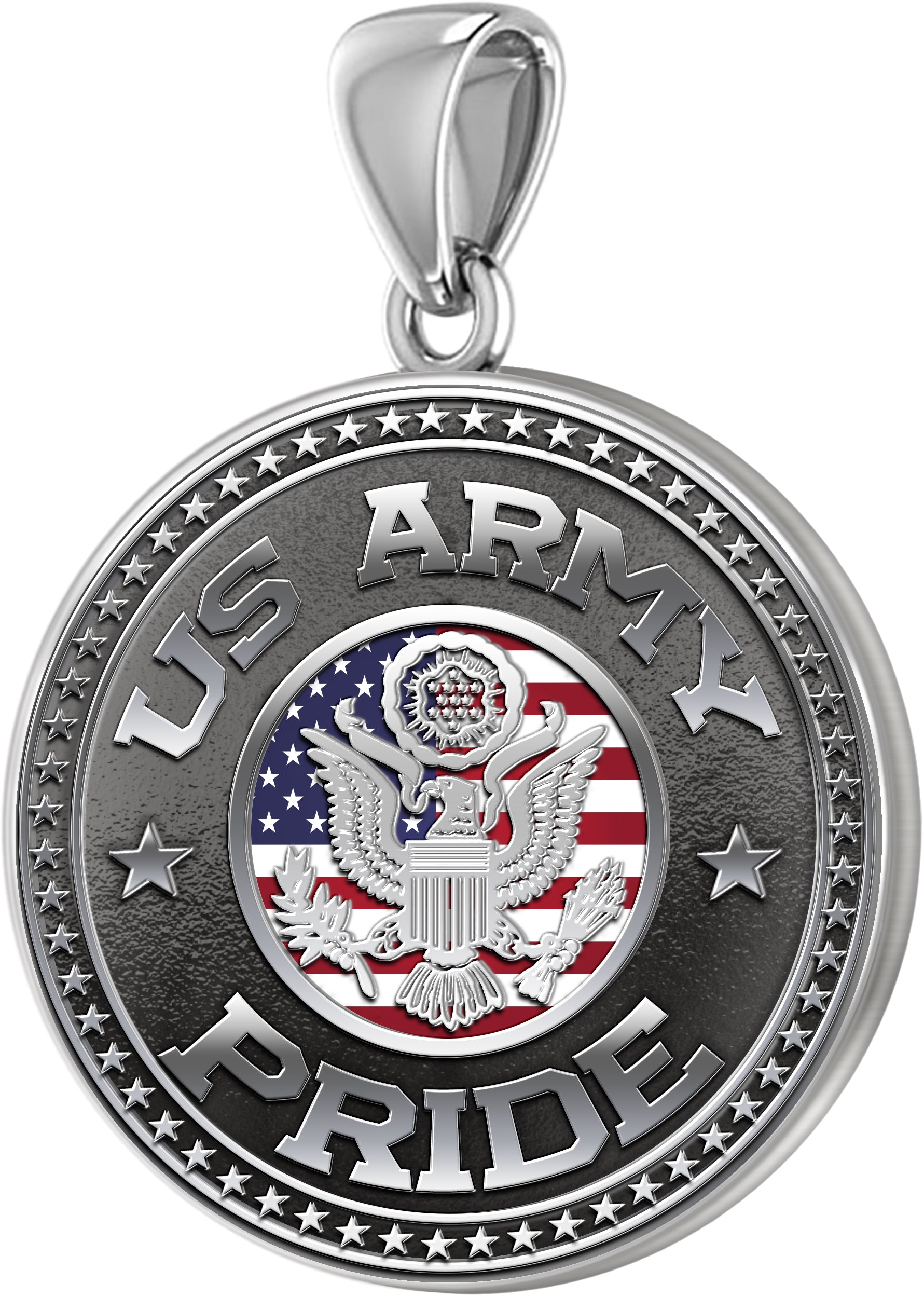 Army Pendant - Men's US Army Pride Medal