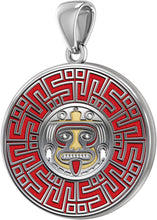 Aztec Mesoamerican Pride Medal - Sterling Silver Pendant