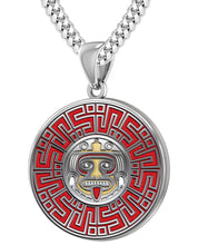Aztec Pendant For Men In 925 Silver - 4.1mm Cuban Chain