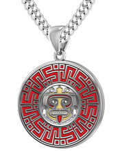 Aztec Pendant For Men In 925 Silver - 5.6mm Cuban Chain
