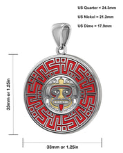 Aztec Pendant For Men In 925 Silver - Size Details