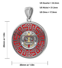 Aztec Mesoamerican Pride Medal - Sterling Silver Pendant size