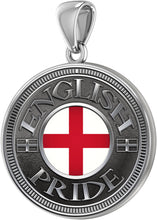 English Pendant For Men With Flag - Pendant Only
