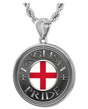 English Pendant For Men With Flag - 3mm Rope Chain
