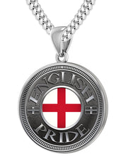 English Pendant For Men With Flag - 4.1mm Cuban Chain