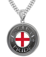 English Pendant For Men With Flag - 5.6mm Cuban Chain