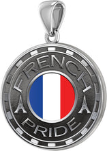 French Necklace For Men With Flag - Pendant Only
