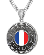 French Necklace For Men With Flag - 4.1mm Cuban Chain