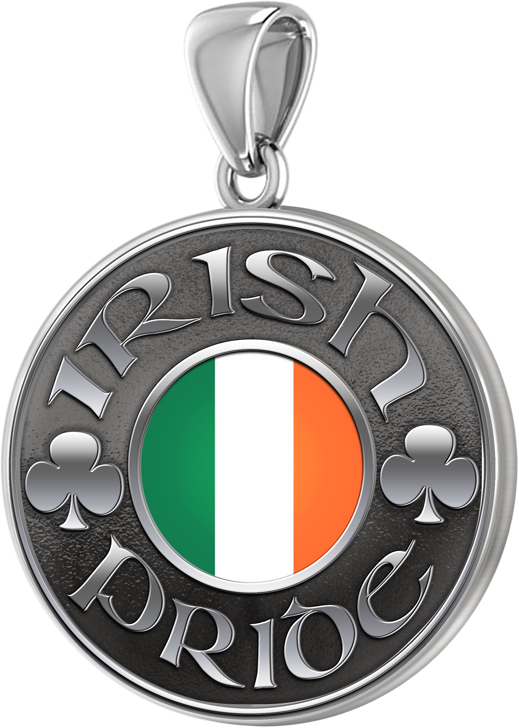 Irish Necklace For Men In Sterling Silver - No Chain