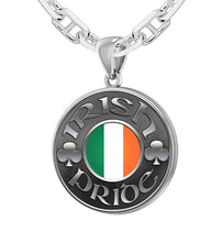 Irish Pendants - Mens Pride Medal Necklace Chain
