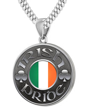 Irish Necklace For Men In Silver - 4.1mm Cuban Chain