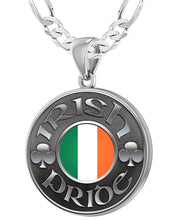 Irish Necklace For Men In Sterling Silver - 4mm Figaro Chain