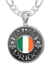 Irish Necklace For Men In Silver - 5.2mm Figaro Chain