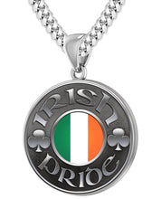Irish Necklace For Men In Silver - 5.6mm Cuban Chain