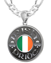 Irish Necklace For Men In Sterling Silver - 6mm Figaro Chain