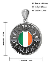 Irish Necklace For Men In Sterling Silver - Size Details