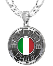 Italian Necklace For Men In Silver - 5.2mm Figaro Chain