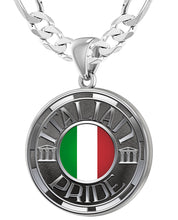 Italian Necklace For Men In Silver - 6mm Figaro Chain
